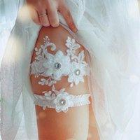 2pcs 섹시한 자수 크리스탈 모조 다이아몬드 웨딩 신부 가터 벨트 허벅지 다리 가터 반지 여성 / 여성 / 신부 선물 파티