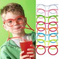 500 قطع الجدة مذهلة سخيفة نظارات متعددة الألوان قش مضحك إطارات الشرب النظارات diy الأطفال أطفال drinkware الإمدادات للحزب صالح