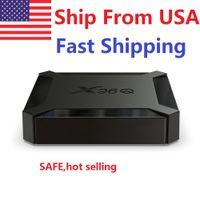 Spedizione da USA X96Q TV Box Android 10.0 2 GB RAM 16 GB Smart Allwinner H313 Quad Core NETFLIX YouTube Set Top Box
