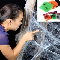 Stretchy Spider Web Voilweb avec araignées pour la fête Halloween KTV Bar PROPS BALL COSTUME DE COSTUME FOURNITUES HH-W01