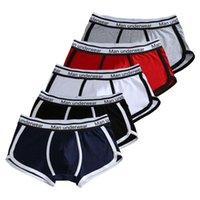 السروال الرياضية سراويل الأوروبية زائد الحجم الملاكم للرجال هدية القطن الرجل الملابس الداخلية مثير الذكور تنفس رجل underware