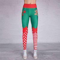 Pantalones Femenino Navidad Impreso Ropa Pantalones Pantalones Leggings