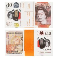 Поддельные деньги Смешные игрушки Реалистичные Великобритания Фунты GBP Британский английский Банк 100 10 ПРИМЕЧАНИЕ Идеально подходят для фильмов Рекламные Социальные СМИ
