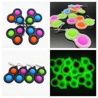 DHL Balls Keychain Push Bubble Fidget Sensory Toy Keyring Autism Special Needs Stress Reliever Simple Dimple Key Chain Pendent