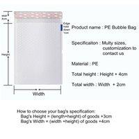 Auto-selante PE poli bolha envelope malas malas brancas