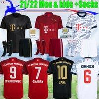 21 22 Bayern Lewandowski Soccer Jersey Man Home Kit Sane Coman Gnabry Alaba Davies Muller Munich 2021 2022