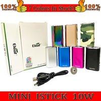 Eleaf Mini Istick Kit 7 Kolory 1050mAh Wbudowany bateria 10 W MAX Wyjście Zmienne napięcie MOD z kablem USB EGO Złącze szybkie Wyślij