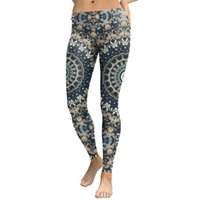 Yoga Outfits Jigerjoger 2021 Inverno stampa digitale a benzina blu menta leggings verde donne stretch plus size collant girls skinny pantaloni sportivi