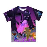 T Shirtsummer 3D Minecraft Il mio mondo indossa la maglietta per bambini in poliestere manica corta in poliestere