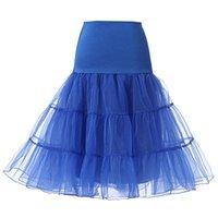 Short Bridal Petticoat Crinoline Vintage Wedding Dresses Underskirt Rockabilly Tutu Rock and Ballet Skirt