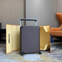 Marka Tasarımcısı Seyahat Bavul Bavul Moda Unisex Trunk Çiçekler Mektuplar Çanta Çubuk Kutusu Ile Spinner Evrensel Tekerlek Duffel Bavullar Luxurys Tasarımcılar Çanta