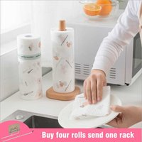 Reinigungstücher 50pcs / Rollentuch Vliesstoff Duster Einweg Teller Waschwischer wiederverwendbar Waschbare Reiniger Faules Lumpen Küchentücher