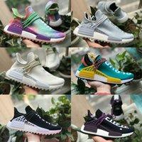 بيع 2021 جديد NMD الإنسان سباق Pharlell Williams الرجال النساء الجري الرياضة مصمم الأحذية NMDS أسود أبيض primedknit عارضة تشغيل حذاء رياضية DE61