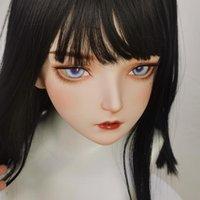 Máscaras de festa (KM102) Feito à mão Doce Feminino / Menina Resina Meia Cabeça Cosplay Japonês Anime Role Play Lolita Kigurumi Boneca Máscara Crossdresser
