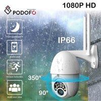 Cameras Podofo 4g Security IP Camera WIFI 1080P HD Video Surveillance PTZ Baby Monitor Smart Home Hikvision CCTV Monitoring Motion Alarm