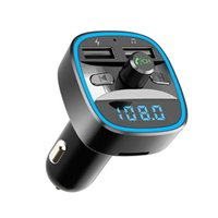 T25 Bluetooth Car Kit 5.0 Receiver FM Transmitter MP3 Music Player Handsfree Calling Dual USB Mobile Phone Quick Charger U Disk TF Card Interior Accessories