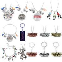 RJ 20Pcs Lot Stranger Things Alphabet Light Wall Monster 11 Letter Snake Pendant Lady Girl Necklaces Wholes Movie Jewelry