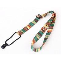 Style ethnique Strap Ukulele Durable Impression réglable Ruban Clip-On Hawaii Guitare Ceinture String Instrument