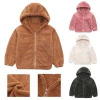 Jackets Girls Boys Children's Candy Color Coat Coral Fleece 2022 Autumn Winter Baby Clothes Children Hoodies Jacket
