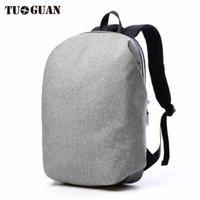 """Sac à dos 2021 Mode Tuguan Brand Men 15.6 """"Sacs à dos pour ordinateur portable Sacs de style coréen Sacs à bandoulière Loisirs School Noir unique"""