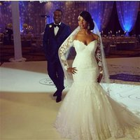 Off The Shoulder Long Sleeves Appliques Lace Custom Made Backless Wedding Gowns Chapel Train Plus Size Mermaid Wedding Dresses