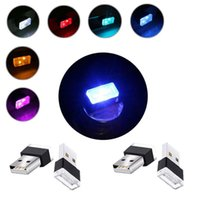 Party Decoration USB Car Atmosphere Light Mini LED Interior Power Supply (RGB Multiple Colors) Lighting Accessories