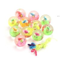 Flashing Toy Crystal Ball Jumping Party Favor Balsl Children's Bouncy Luminous Source 2021 Pink Toys colorful package HHD7746