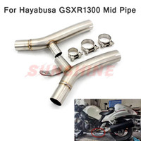 For Hayabusa GSXR1300 GSX 1300R Exhaust Motorcycle Middle Pi...
