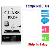 Tempered Glass Phone Protectors For iPhone 13 Mini 12 11 Pro Max XR XS Samsung A10 A20 A30 A40 A50 Huawei P20 P30 Screen Protector With Package