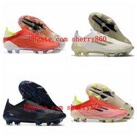 2021 Yüksek Tops Futbol Ayakkabıları X Speedflow + FG Kırmızı / Çekirdek Siyah / Güneş Kırmızı Cleats Eğitmenler Erkek Açık Futbol Çizmeler