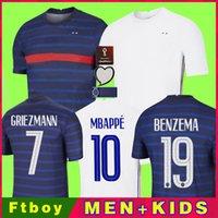 World 2022 cup BENZEMA MBAPPE GRIEZMANN maillot de football POGBA GIROUD FRANCE KANTE Maillot de foot equipe Maillots uniformes de maillot de football la hommes kit enfants femmes