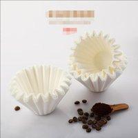 Filtros de café Venta de papel Papel de filtro de papel Máquina de mano Máquina doméstica Tarta de huevo Taza de tazón 50 piezas
