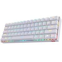 Redragon K530 Draconic 60٪ Compact RGB لوحة المفاتيح الميكانيكية اللاسلكية، 61 مفاتيح TKL صممت 5.0 لوحة مفاتيح الألعاب بلوتوث مع مفاتيح بنية