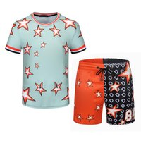 Mens Beach Designers Tracksuits Outfits Holiday 21ss Fashion Man Shirt T Sets Shirts Shorts Sportswears Seaside Set Suits S Summer 2021 Qhvj