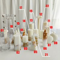 ديي سيليكون جميع أنواع الأشكال العفن شمعة العفن أدوات ديي أدوات الخبز 7 ألوان قالب المطبخ أنماط مختلفة