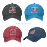 Lets Go Brandon FJB Dad Hat Baseball Cap for Men Funny Washed Denim Adjustable Hats Fashion Casual Hat DD
