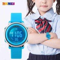 Crianças relógio digital LED esporte relógios relógio infantil 50m impermeável crianças relógios de pulso montre despeje encerramento 1100 210628
