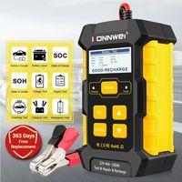 Konnwei KW510 완전 자동 12V 자동차 배터리 테스터 진단 도구 펄스 수리 5A Batterys 충전기 습식 건조 AGM 젤 납 산
