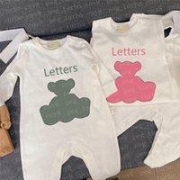 Lettre classique Imprimé Enfants Beaux Oneesies Vêtements Enfant Jumpsuits Baby Jumpsuits à manches longues Coton Girls Burbot