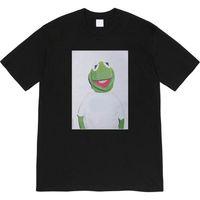 [고품질 가로류] Supre 티셔츠 08ss 티 개구리 사진 인쇄 짧은 소매 티셔츠
