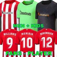 21 22 Villalibre Bilbao Jersey Soccer Berenguer 2021 2022 Williams Muniain Aduriz Football Shirts Raul Garcia Camiseta de futbol Men Uniformes enfants