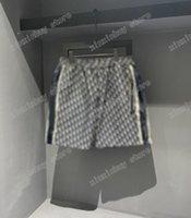 21SS MENS Designer Shorts Pantalones Jacquard Tela Doble letra Hombres Pantalón Pantalones Casuales Pantalones Negro Azul 06