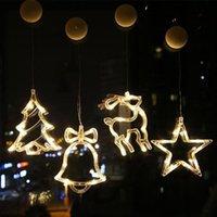 LED de sucção de Natal luzes de boneco de neve decorações de árvore de Natal decorações decorativas luzes de suspensão criativa de xmas