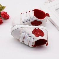 First Walkers Fashion Infant Kid Boy Boy Heart Pattern Shoes Sole Sole Lienzo Sneaker Snakdler Bebé Bebek Ayakkabi