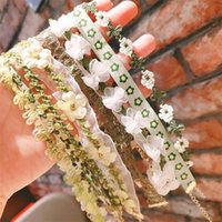 Spring and Summer Handmade Collar Necklace Retro Fairy Lace Clavicle Chain Chiffon Sweet Choker Short Necklaces Neck Accessories