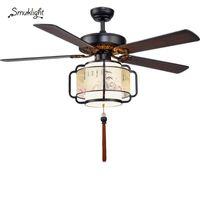 Diametro 132 cm Ventilatori remoti ContNtrol Lampadario a soffitto del soffitto Lampadario per lampadario da camera da letto Camera da letto Lampadario a soffitto a LED