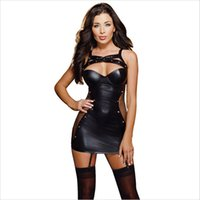 Mulheres Sexy Lingerie Hot Porn Erótico Lingerie Clube Noturna Desgaste Plus Size Couro Dress Dress Boneca Sexy Trajes Exotic Apparel 25 T190624