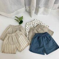 Pantalones cortos de algodón infantil de FacajoYous Verano Nuevos niños y pantalones sueltos y transpirables de niñas bebé Pantalón corto Pantalón corto 210303