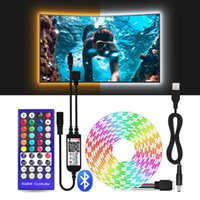 LED-Streifenlicht RGBW RGBWW USB-LED-Streifen-IR-Fernbedienung, Bluetooth-Steuerung Flexible wasserdichte Desktop-PC-TV-Hintergrundbeleuchtung