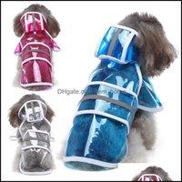 Supplies cão casa jardinendog roupas impermeável animal de estimação casaco de chuva reflexivo Rainwear com capuz Roupas de revestimento à prova de vento para pequena larga média